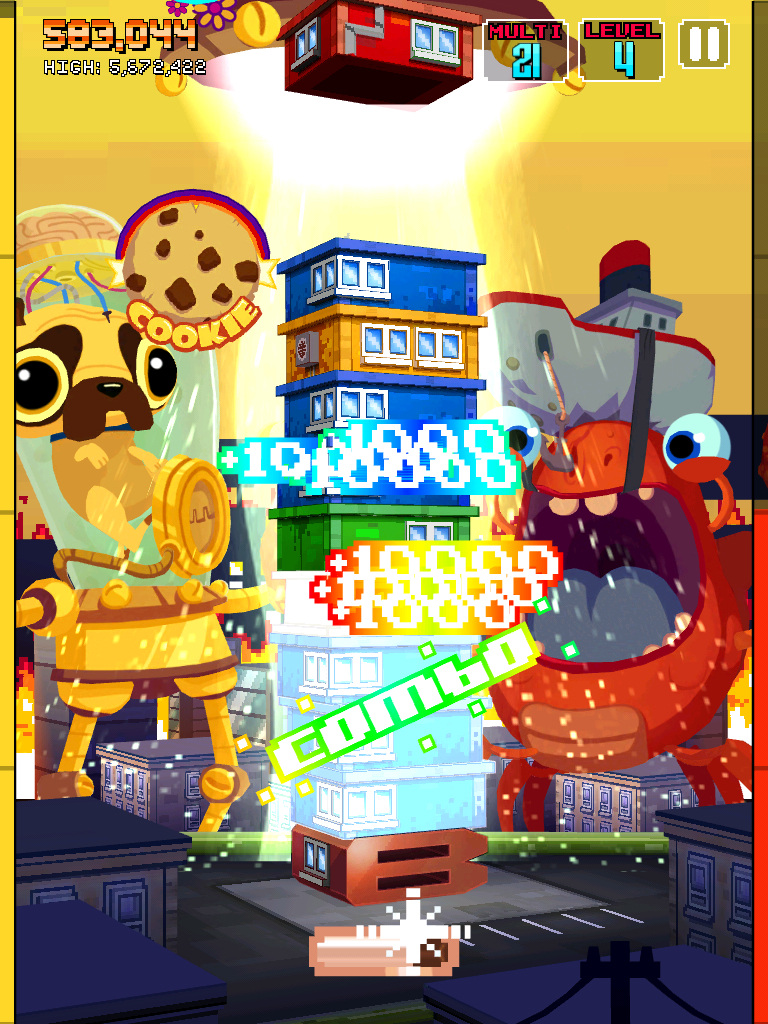Yellow dog increases score multiplier by 10