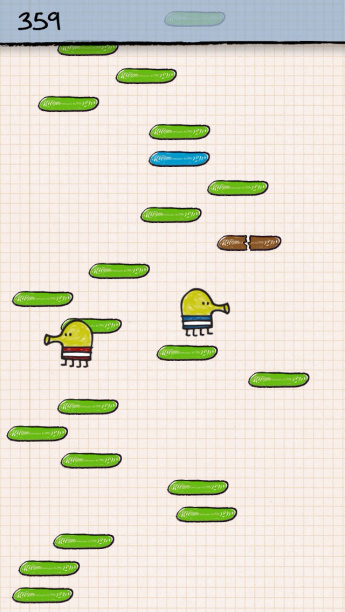 Doodle Jump iPod Touch 5th gen on appSIZED