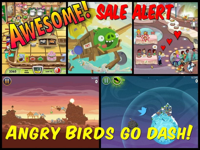 angry birds and diner dash go on sale appSIZED